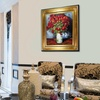Framed Hand-Painted Oil-on-Canvas Reproduction of Van Gogh's Poppies