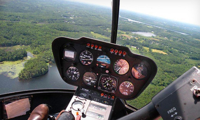 North Andover Flight Academy - North Andover: $375 for a Boston Skyline-and-Foliage Tour for Two from North Andover Flight Academy ($750 Value)