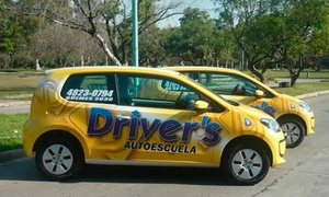 Driver's school: 4 clases de manejo en tránsito real con Driver´s School