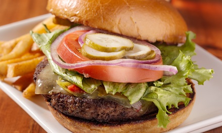 Homemade Burger Meal for Two or Four at The Blues Bar and Grill (Up to 43% Off)