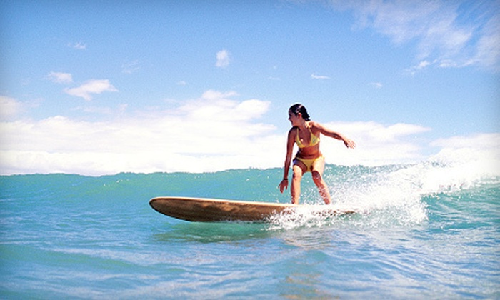 Go Nuts Hawaii - Waikiki: One-Hour Surf Lesson with Three-Day Board Rental for One, Two, or Four from Go Nuts Hawaii (Up to 60% Off)