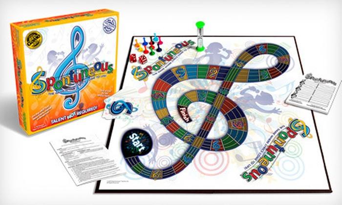 Spontuneous Party Board Game in - Dayton | Groupon