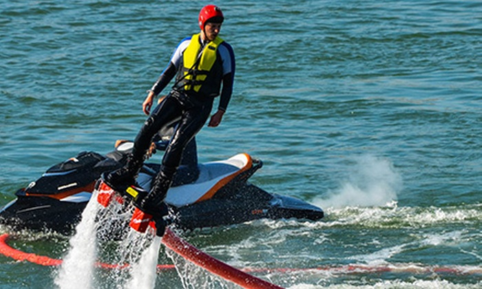 Aquafly - Multiple Locations: $119 for a 90-Minute Beginner Flyboard-Pilot Course from Aquafly (Up to $249 Value)