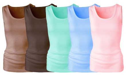 10-Pack of Women's Ribbed Tank Tops