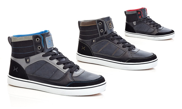 BMX Men's Lace Up High Top Sneakers