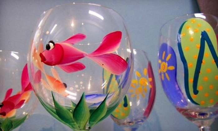 Art-Sea Living - Boynton Beach: BYOB Wineglass-Painting Session for Two or Pottery-Painting Session at Art-Sea Living (Up to Half Off)