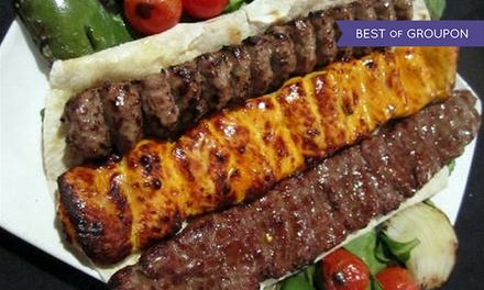 Dinner for Two or Four at Shiraz Persian Restaurant (Up to 54% Off). Four Options Available.