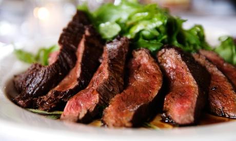Menu di carne da 4 portate con dolce e calice o caraffa di vino per 2 persone al ristorante La Campagnola