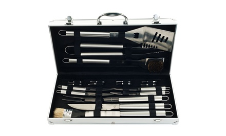 19-Piece Heavy-Duty Barbecue Set with Case
