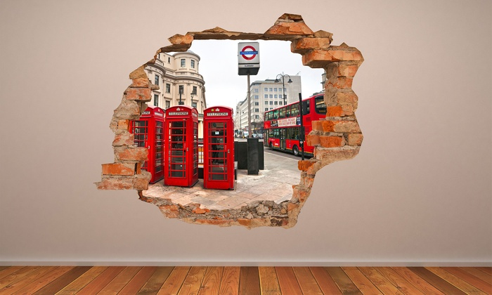 3d Wall Art 3d effect wall vinyl | groupon goods