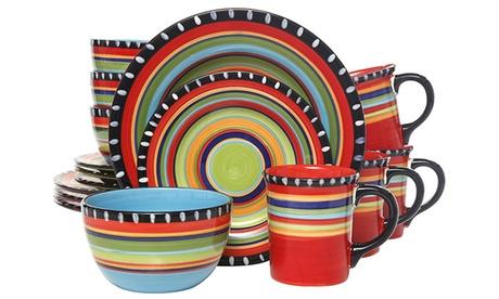 Pueblo Springs Multi-Color Dinnerware Set (16-Piece) 966644f8-1969-11e7-a527-00259060b5da