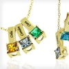 Up to 63% Off a Personalized Mother's Birthstone Engraved Necklace