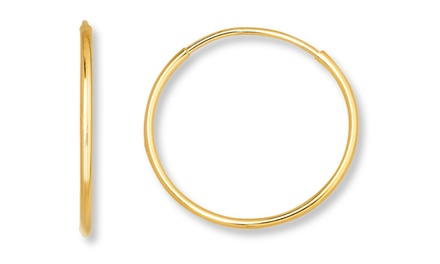 14K Solid Gold Endless Hoop Earrings. Multiple Sizes From $34.99–$39.99.