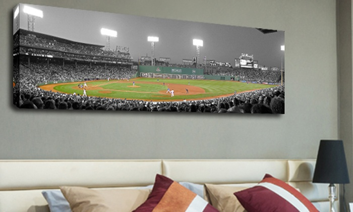 panoramic mlb stadium prints groupon goods