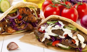 Pita Pit - Braddon: Pita Meal with Drinks for One ($11.90) or Two People ($22.90) at Pita Pit Braddon (Up to $43 Value)
