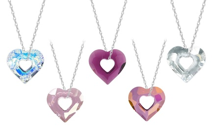Miss U Heart Pendant with Swarovski Elements in Sterling Silver