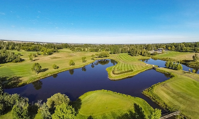Leduc Golf Club - Leduc Golf Club: 18-Hole Round of Golf with Cart and Range Balls for Two or Four at Leduc Golf Club (Up to 56% Off)