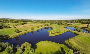 Leduc Golf Club: 18-Hole Round of Golf with Cart and Range Balls for Two or Four at Leduc Golf Club (Up to 56% Off)