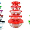 Glass Nesting Bowls with Lids Set (5-Piece)