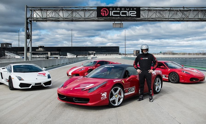 Circuit ICAR - Multiple Locations: Two Laps Driving a Ferrari, Lamborghini, Nissan GTR, or Corvette Stingray at Circuit ICAR (Up to 50% Off)