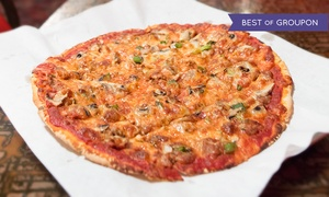 Marie's Pizza & Liquors: One or Two Large Marie's Special Pizzas and Pitchers of Beer or Wine Flights at Marie's Pizza & Liquors (Up to 52% Off)