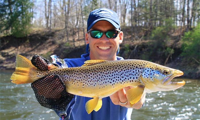 Half or full day fishing trip fly fishing michigan for Fly fishing michigan