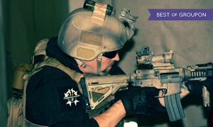 Strikeforce Sports: Four-Hour Airsoft Package with Rental Mask and Gun at Strikeforce Sports (Up to 47% Off)