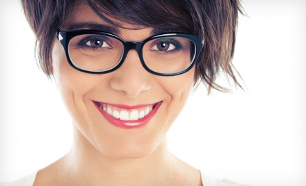 Credit Toward Frames and Prescription Lenses with Optional Eye Exam at Visions Eyecare (Up to 77% Off)