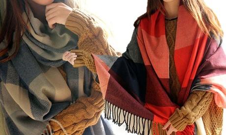 1 à 4 écharpes oversize super douces pour femme, collection Trisha
