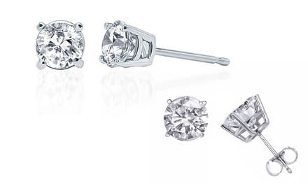 1.00, 1.25, or 1.50 CTTW Round Diamond Solitaire Stud Earrings from $249.99–$349.99