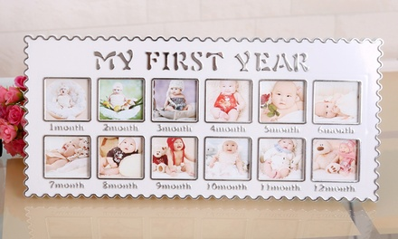First Year Baby Photo Frame Groupon Goods