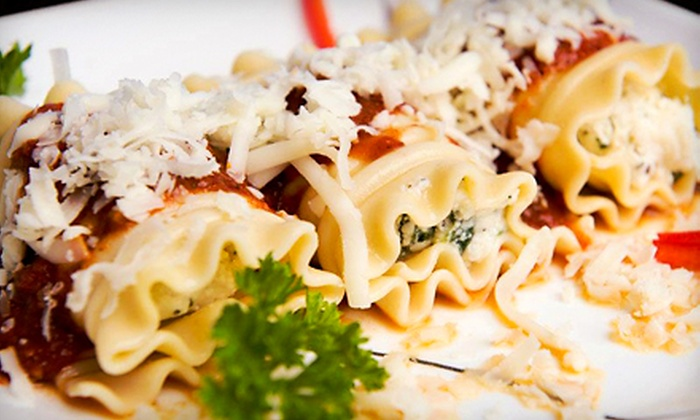 Alfredo's Pizza Café - Homewood: $25 for Pasta Family Pack with Salad and Garlic Rolls at Alfredo's Pizza Café (Up to $14.99 Off)