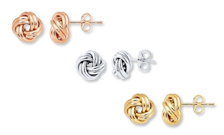 Lovely Knotted Stud Earrings