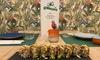 Menu di sushi brasiliano con vino
