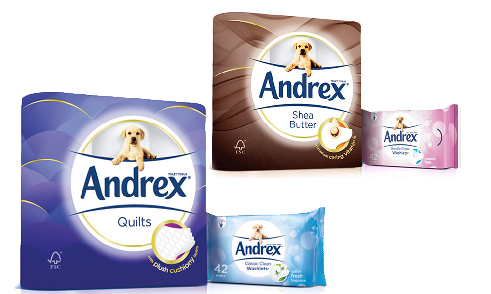 Up to 96 Rolls of Andrex Toilet Paper with up to Three Packs of Andrex Washlets From £10.99