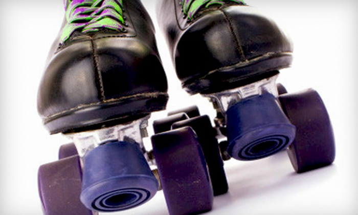 Skateland & Great Skate Glendale - Multiple Locations: Roller-Skating with Skate Rental, Pizza, and Soda for Two or Four from Skateland & Great Skate Glendale (Up to 53% Off)