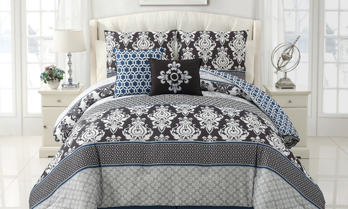 Chic Five-Piece Reversible Comforter Sets: $69.99 for a Chic Five-Piece Comforter Set ($259.99 List Price). Free shipping and Returns. Multiple Styles Available.