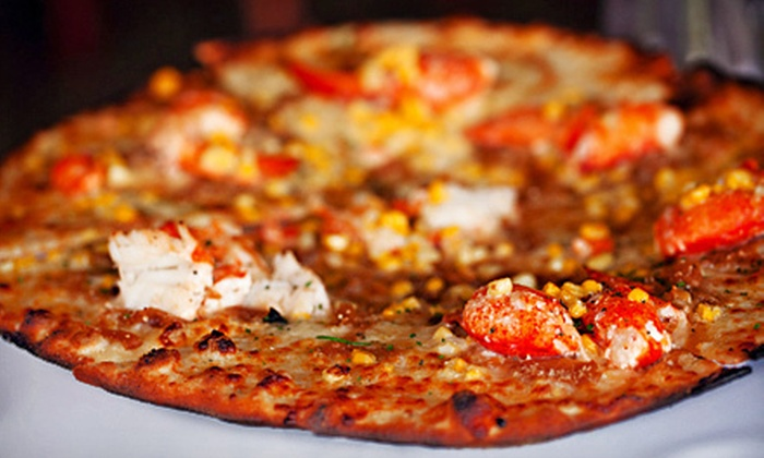 The Fireplace Room at The International - Bolton: $19 for a Pizza Dinner with Pizzas and Salad for Two at The Fireplace Room at The International (Up to $42 Value)