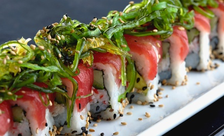 Sushi and Asian Fusion Cuisine at Jasmine Restaurant (50% Off). Two Options Available.