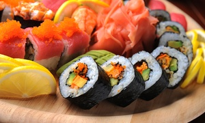 FUSION : Menu giapponese con barca di sushi da 50 pezzi e vino o birra in Prato della Valle