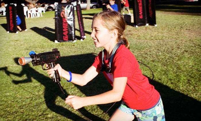 Games2U - Downtown: 90-Minute Outdoor Party with One or Two Activities, Including Laser and Archery Tag from Games2U (Half Off)