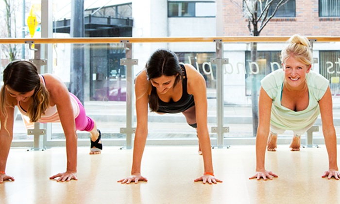 Barre3 - Frisco Square: Four Classes or One Month of Unlimited Classes at Barre3 (Up to 54% Off)