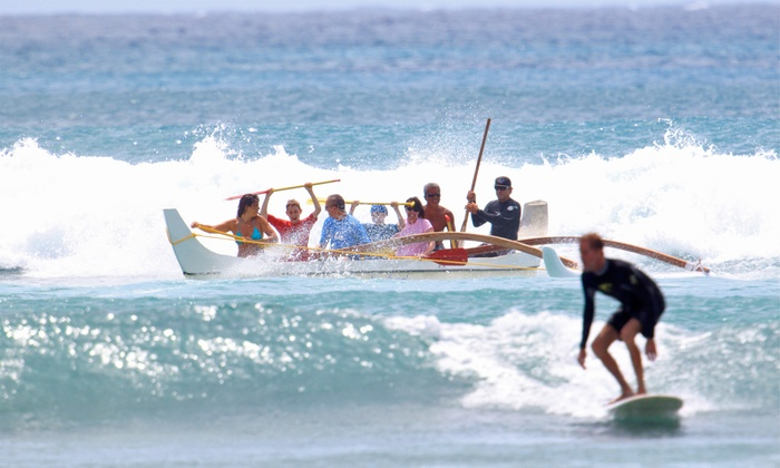 Big Wave Dave Surf Co. - Big Wave Dave Surf Co.: Group Surf Lesson and Outrigger-Canoe Ride for One, Two, or Four from Big Wave Dave Surf Co. (Up to 40% Off)
