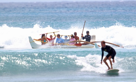 Group Surf Lesson and Outrigger-Canoe Ride for One, Two, or Four from Big Wave Dave Surf Co. (Up to 46% Off)