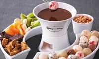 Häagen-Dazs Schokoladen-Fondue mit Heißgetränk für 2 oder 4 Personen bei Häagen-Dazs in der Fressgass (bis 34% sparen*)