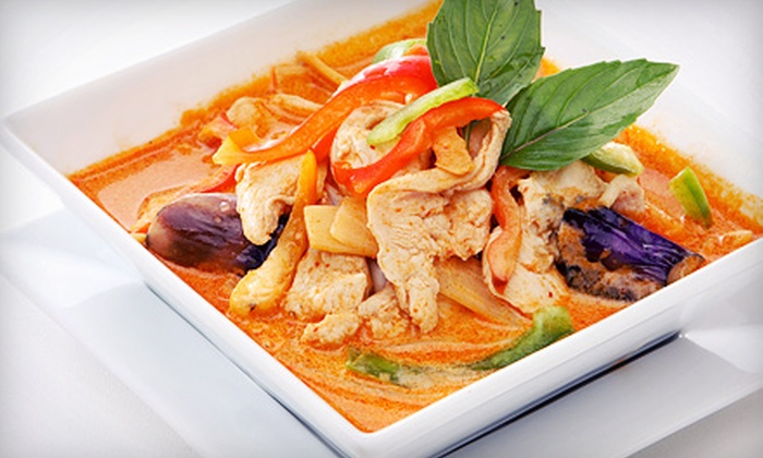 Nine Thai Cuisine - Chatham: $29.99 for Thai Dinner for Two with Entrees, Salads, and Thai Fried Ice Cream at Nine Thai Cuisine (Up to $71.60 Value)