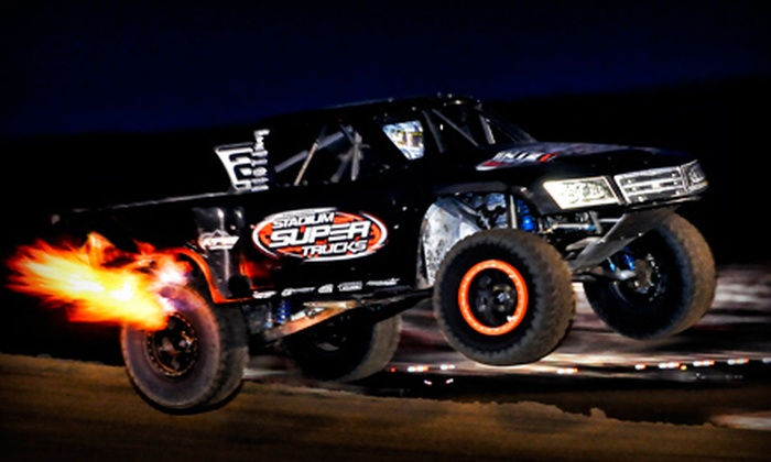 Robby Gordon's Off-Road Stadium SUPER Trucks - University of Phoenix Stadium: Robby Gordon's Off-Road Stadium SUPER Trucks at University of Phoenix Stadium (Up to 51% Off). Four Options Available.