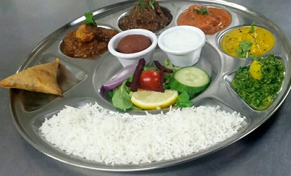 image for Thali Lunch For Two or Four from £14 at Chaula's (Up to 56% Off)