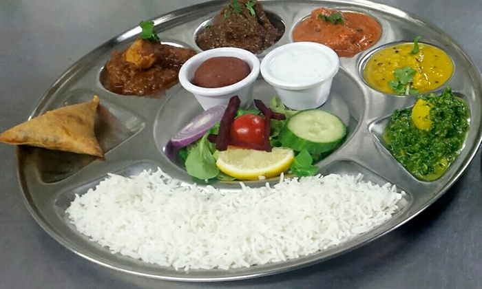 Chaula's - Brighton: Thali Lunch For Two or Four from £14 at Chaula's (Up to 56% Off)