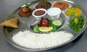 Chaula's: Thali Lunch For Two or Four from £14 at Chaula's (Up to 56% Off)